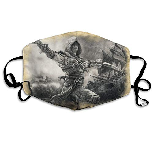 Assassins Creed Black Flag Edward Kenway Dust Mask Anti-dust Polyester Mouth Face Masks Mouth Cover ()