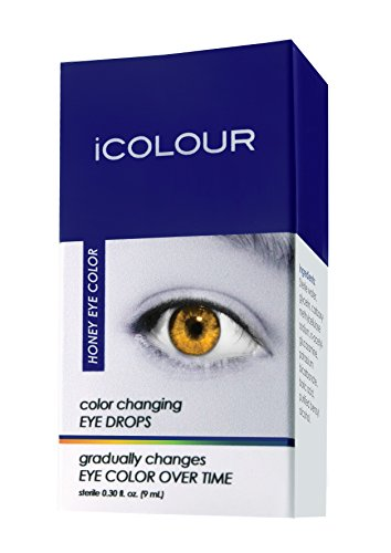 iCOLOUR Color Changing Eye Drops - Change Your Eye Color Naturally - 1 Month Supply - 9 mL (Honey) (White Glow In The Dark Contact Lenses)