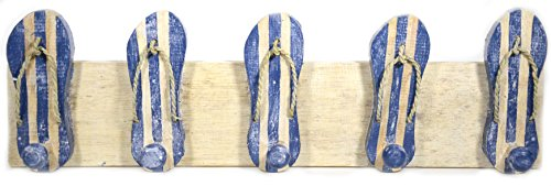 (Hand Carved FLIP FLOP towels beach Hanger Holder Surfboard Wooden Wall Hanging Art Sign Tiki)