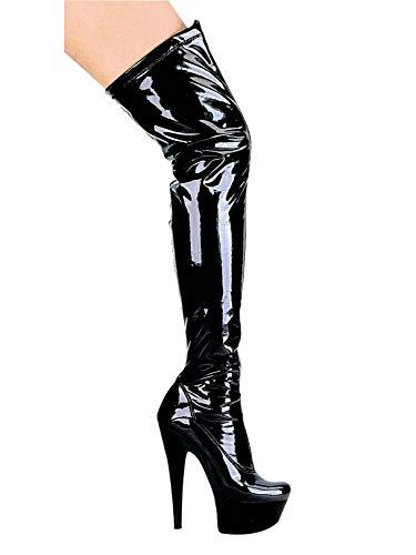 Fantasy Black Thigh High Boot ()