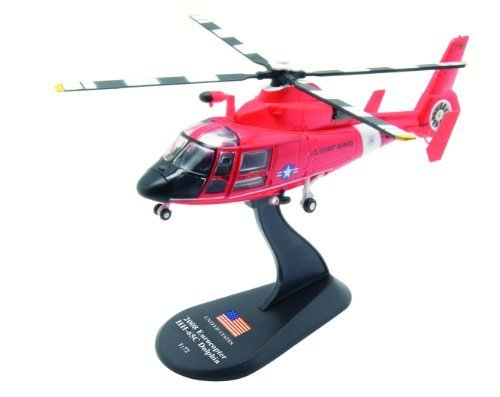 Eurocopter HH-65C Dolphin diecast 1:72 helicopter model (Amercom HY-22)