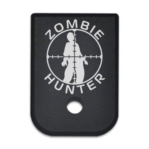 BASTION Tactical Mag Floor Plate Laser Engraved Magazine Base Plate For Glock 9mm & 40 .357 .45GAP - ZOMBIE HUNTER