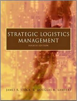 Book Strategic Logistics Management