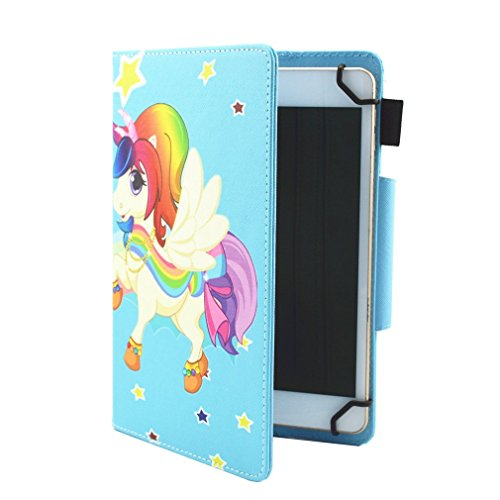 10 Foldable Case Magnetic Case Slot Bookstyle Ultra Thin PU Purpose Pad Inch for Butterfly LMFULM® Tablet for 2 Color General Inch Pattern Case Stand of Leather 10 Card Colorful Closure gq1O16w4x