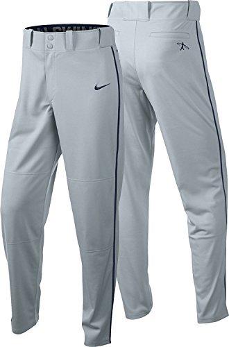 Nike Men's Swingman Dri-FIT Piped Baseball Pants 615280, XX-Large, Grey/Black by NIKE