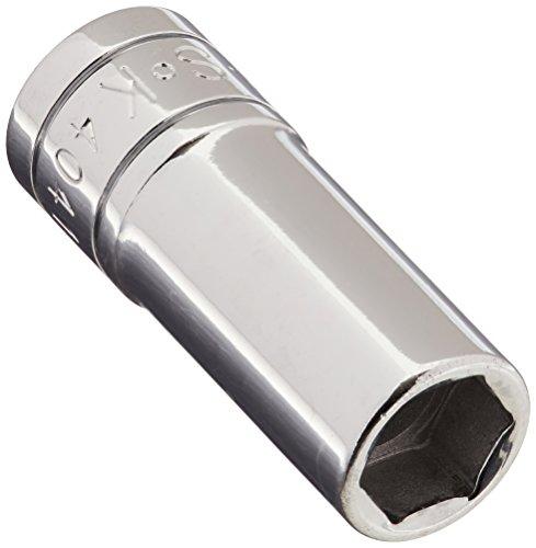 SK Hand Tool 40414 6 Point 7/16-Inch Drive Deep Socket, 3/8-Inch, Chrome