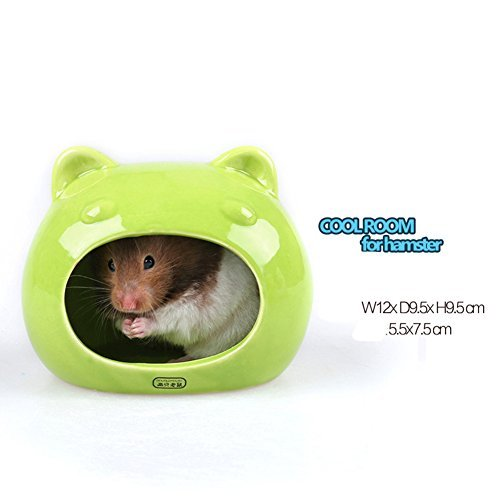 Hamster Supplies Ceramic Critter Bath House Hamster Shade House Room Refreshing Cool Igloos (Style21) Ceramic Chinchilla House