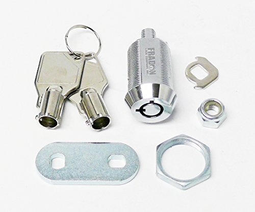 FJM Security 2400AL-KA Tubular Cam Lock with 1-1/8