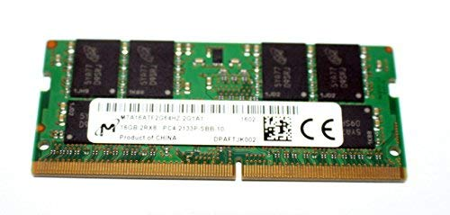 MICRON 16GB PC4-2133P 2Rx8 DDR4 So-Dimm Laptop Memory MTA16ATF2G64HZ-2G1A1 ()