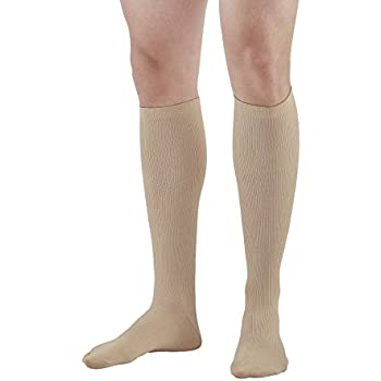 66726d5f8 Ames Walker AW Style 103 Men s 15-20mmHg Moderate Compression Knee High  Socks Tan Medium - Relieve Tired Aching and Swollen Legs - Symptoms of  varicose ...