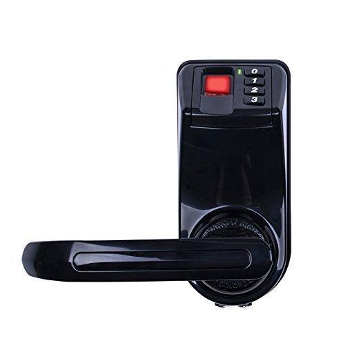 - Adel LS9 Keyless Biometric Fingerprint Door Lock Left Right Handle (Trinity Fingerprint+Password+Key, Hard Plastic Material)