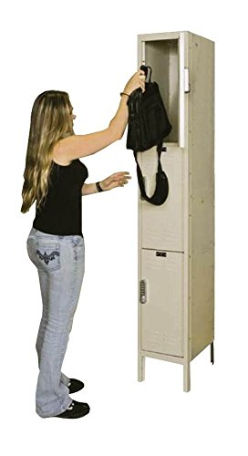 Hallowell UEL1258-3PT Parchment Steel DigiTech Electronic Access Locker, 1 Wide with 3 Opening, Triple Tier, 12