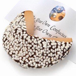 Fortune Cookie Paper - Snowflake Sprinkles Giant Fortune Cookie (Milk)