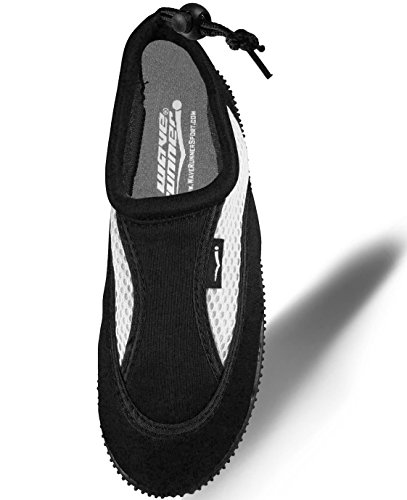 Black On Strap Women and with White Water Men Quick Barefoot Slip Aqua Back Adjustable Shoes for Dry Socks ZBq0FSx