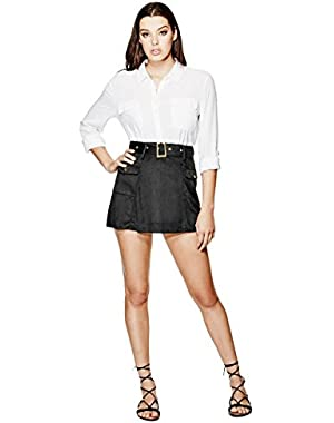 GUESS Eunice Belted Skirt