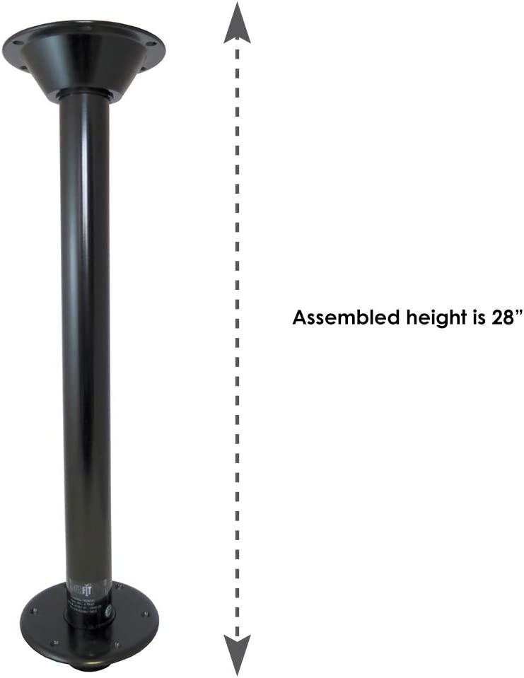 Manufacturers Select ITC SurFit Table Leg System for RV or Boat Black, 27 81TL27-BH
