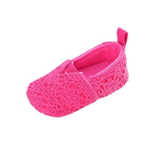 Uomogo® Girl Sole Baby Rosa Footwear Scarpine Bowknot Caldo slip Neonato Soft Toddler Non Shoes qpqSwaf