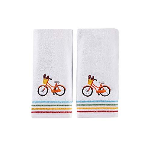 (SKL Home by Saturday Knight Ltd. Paradise Beach 2-Piece Hand Towel Set, White)