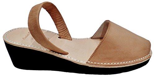 Avarcas menorquínas con tacón / cuña de 4,8 cm, varios colores, abarcas, albarcas, sandalias … Cuero nobuck
