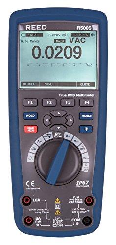 REED Instruments R5005 True RMS Bluetooth/Waterproof Industrial Multimeter