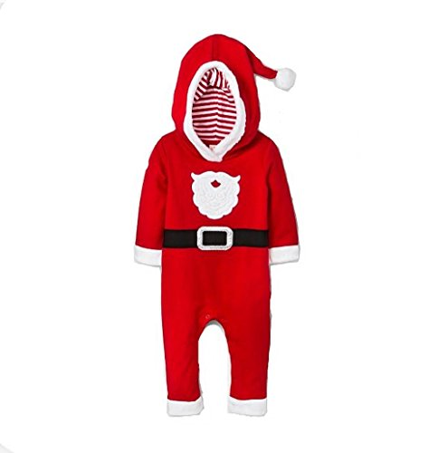 (Cat & Jack Baby Boy's Santa Suit Red (3-6M))