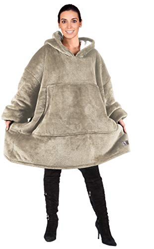 Oversized Hoodie Blanket Sweatshirt,Super Soft Warm Comfortable Sherpa Giant Pullover with Large Front Pocket,for Adults…