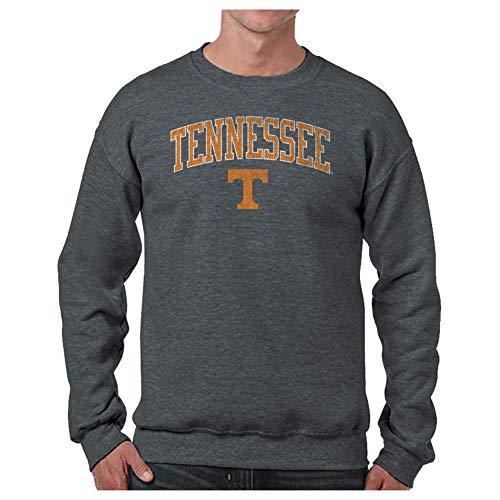 Elite Fan Shop Tennessee Volunteers Vintage Crewneck Sweatshirt Charcoal Victory - M