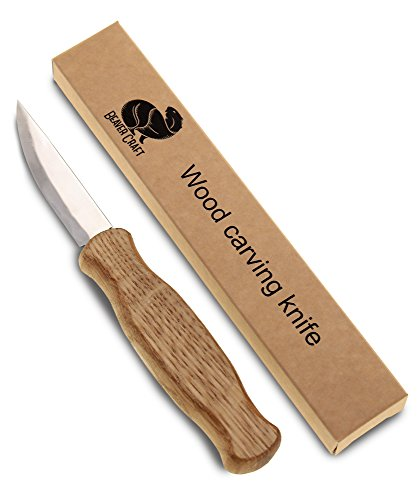 Wood Carving Sloyd Knife for Whittling and Roughing for beginners and profi - Durable High carbon steel - Spoon Carving Tools - Thin wood working