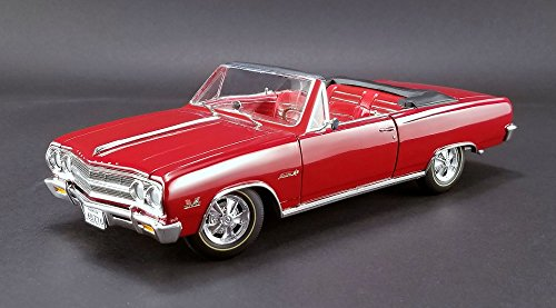 1965 Chevrolet Chevelle Z16 Convertible Removeable Top in Red Model Car by Acme in 1:18 Scale (Chevrolet Chevelle Convertible)