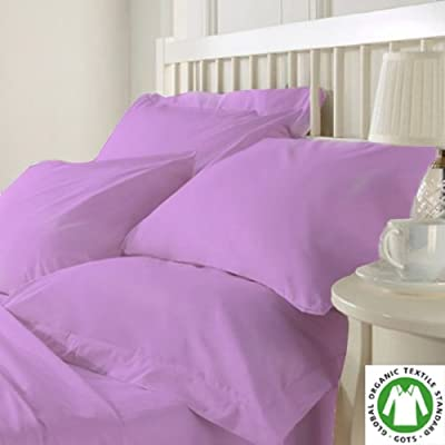Organic Cotton Bed Sheet Set. Soft and Luxurious - Twin Lilac