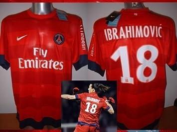 size 40 d4fb6 9db59 PSG Zltan Ibrahimovic Nike Shirt Jersey Soccer Adult XL BNWT ...