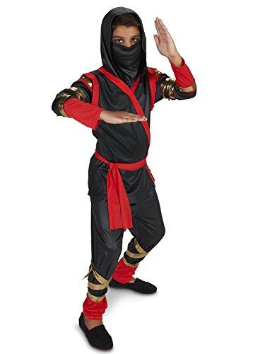 Black Red Ninja Child Costume (Real Ninja Costumes)