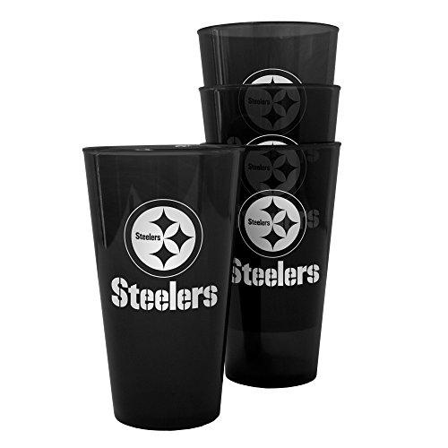 Boelter Brands Pittsburgh Steelers Plastic Pint Glass Set]()