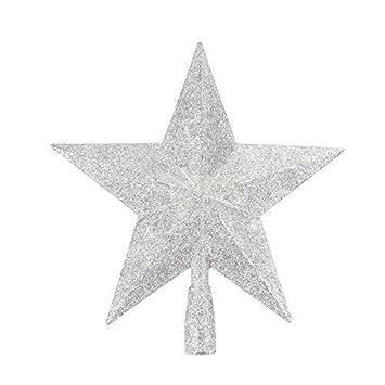 Amazon.de: 3D Glitter Sterne Weihnachtsbaum Zylinder Dekoration ...