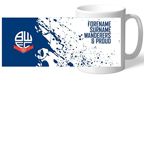 Official PERSONALISED Bolton Wanderers FC Bold Crest Mug FREE Personalisation