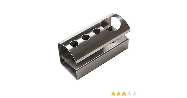 Porta Brush,SUNKAX titular de titular de cepillo de dientes de acero inoxidable de grado alimentario con diseño práctico y simple, disponible para 3 ...