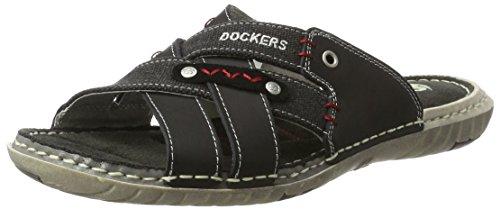 Dockers by Gerli Herren 38sd006-402100 Pantoletten Schwarz (Schwarz 100)