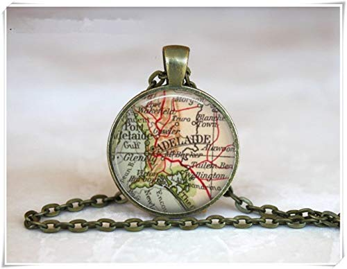 we are Forever family Adelaide Map Pendant,Vintage Adelaide,Old Adelaide Map, South Australia