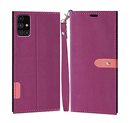 Erotic Flip Wallet Case Cover for Samsung Galaxy M31s   Pink