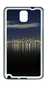 Samsung Note 3 CaseMostly Clear Night In Seattle TPU Custom Samsung Note 3 Case Cover White