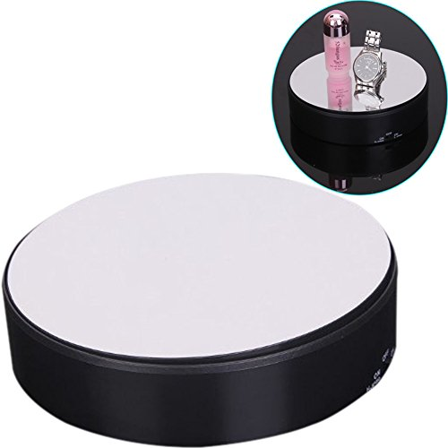 ZZ Lighting 18CM 360 Degree Mirror Rotating Turntable Display Stand Power by Battery