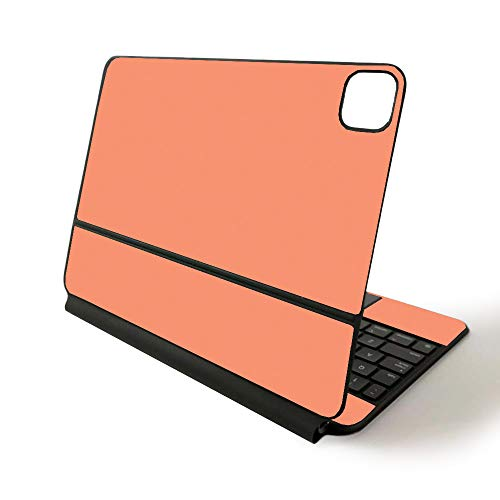 MightySkins Skin for Apple Magic Keyboard for iPad Pro 11-inch (2020) - Sushi | Protective, Durable, and Unique Vinyl Decal wrap Cover, Solid Peach (APIPSK1120-Solid Peach)