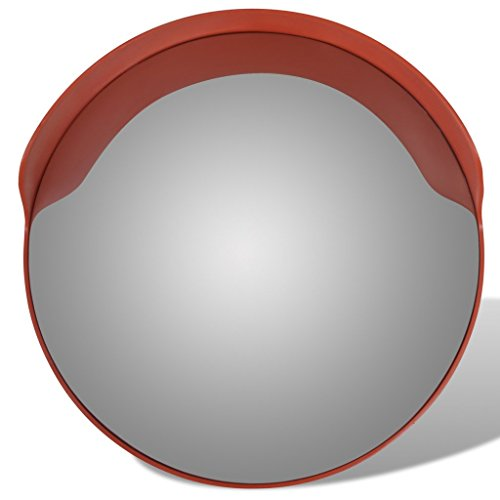 Anself Convex Security Mirror PC Plastic Orange 24'' Outdoor by Anself (Image #3)