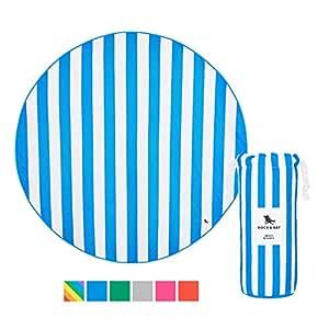 "Dock & Bay Round Beach Blanket Sand Free - Bondi Blue, Round Beach Blanket (66"", 170cm) - Beach mat"