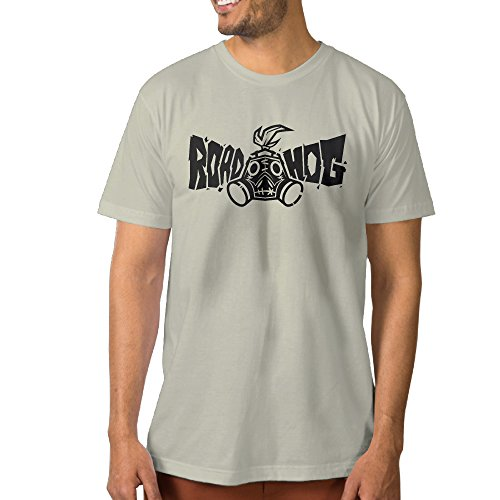 Texhood Man's Roadhog Tshirts SizeM Natural O-Neck