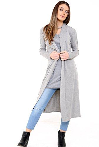 Get The Trend - Abrigo - para mujer gris claro