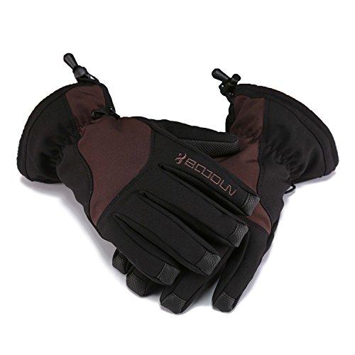 Huntvp Waterproof Windproof Winter Thermal Warm Snow Skiing Snowboarding Snowmobile Ski Gloves Women (Gore Mens Ski Glove)
