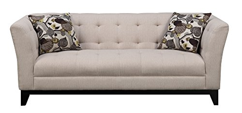 Emerald Home Furnishings Marion Sofa with 2 Accent Pillows, Standard, Dark Brown Kd Leg