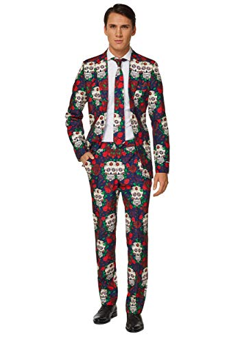 Suitmeister Halloween Costumes for Men - Day of The Dead - Include Jacket Pants & Tie]()