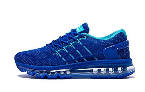 Blau Sportschuhe mit Luftpolster Laufschuhe Roayl Sport Sneaker Onemix Air Herren Turnschuhe Straßenlaufschuhe wPzWTZ1